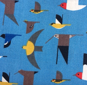 Organic Double Gauze COTTON - Maritime Birds - Birch Organic Fabrics