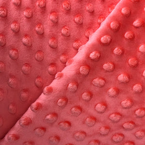 MINKY fabric - Living Coral - Dimple Chenille (1/2 yard)