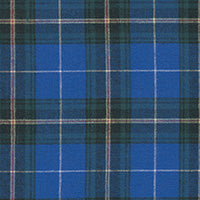 "COTTON - 58"" Brushed Plaid Nova Scotia Tartan Blue - (1/2 yard)"