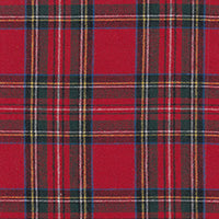 "COTTON - 58"" Brushed Plaid Royal Stewart - (1/2 yard)"