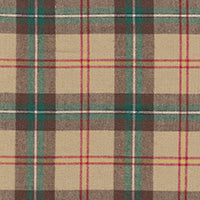"COTTON - 58"" Brushed Plaid Saskatchewan Beige - (1/2 yard)"
