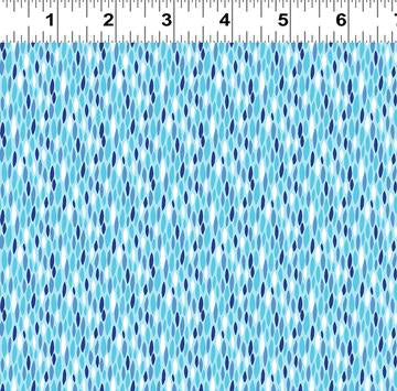 COTTON - Beetlemania - Geo Sky Blue  - Clothworks (1/2 yard)