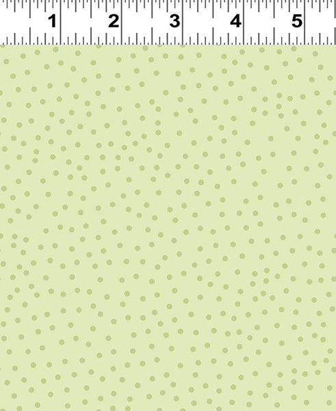 COTTON - Sweet Lavender Green Tonal dots - Clothworks (1/2 yard)
