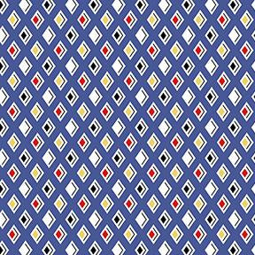 COTTON - Tiny Print Nation - Blue Diamonds - Clothworks (1/2 yard)