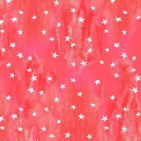 COTTON - Purrfect Christmas - Light Red Stars - Clothworks (1/2 yard)