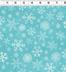 COTTON - Winter Woodland Snowflakes - Clothworks (1/2 yard)