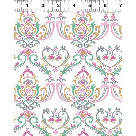 COTTON - Pen Pal - Fancy White - Clothworks (1/2 yard)
