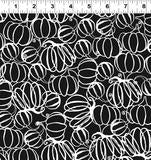 COTTON - Midnight Glow - pumpkins on black - Clothworks (1/2 yard)