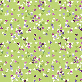 COTTON - Thistle Patch - Olive triangles - Clothworks (1/2 yard)
