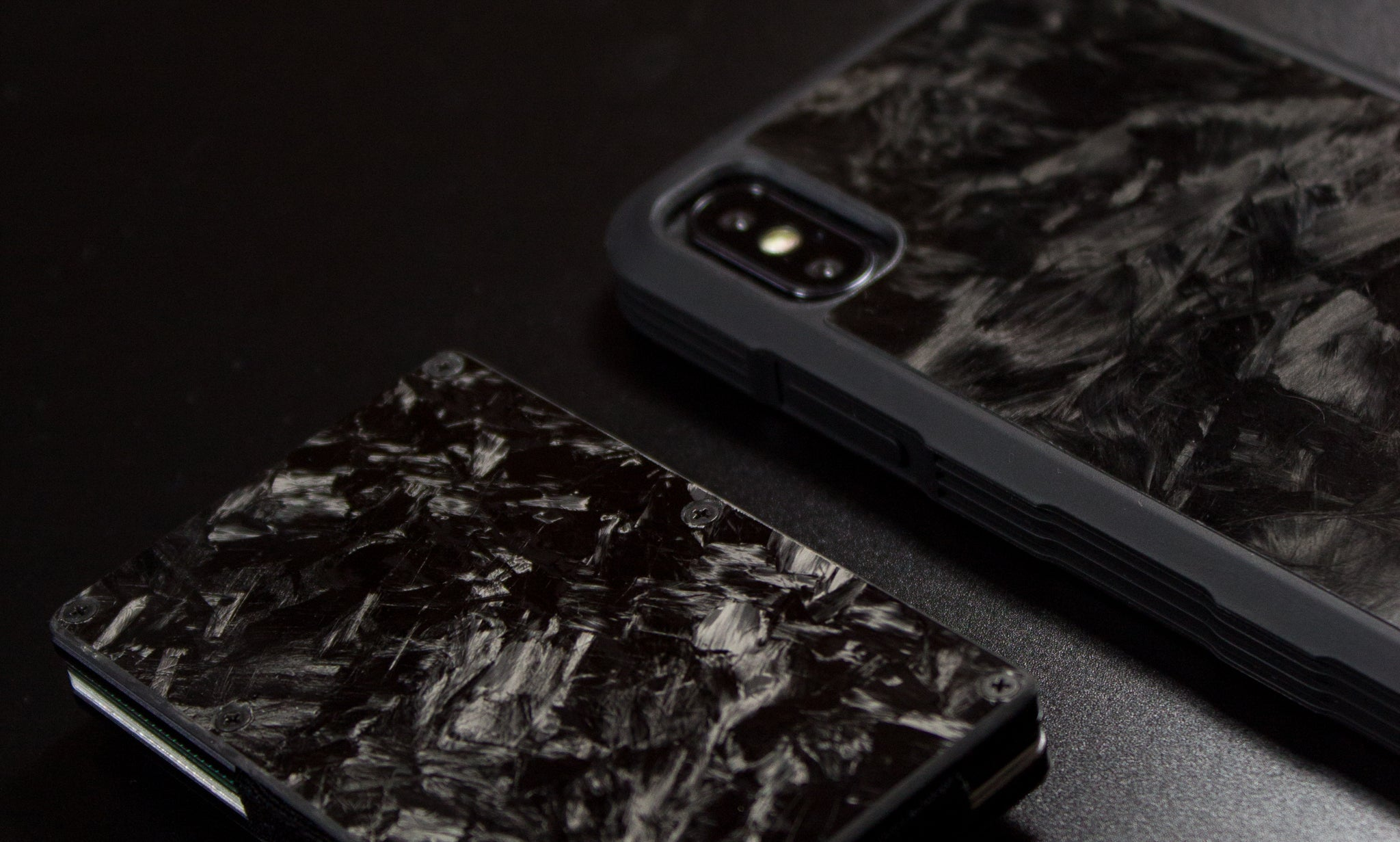 Forged Carbon Fibre Cardholder and iPhone X Forged Carbon Fibre Case