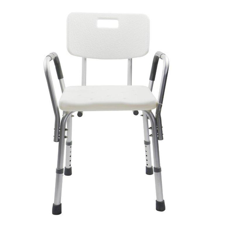 Aluminium Bath/Shower Chair with Back & Removable Armrests