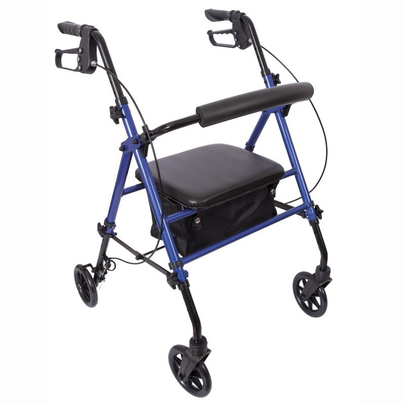 Aluminium Rollator with Brakes and Lock