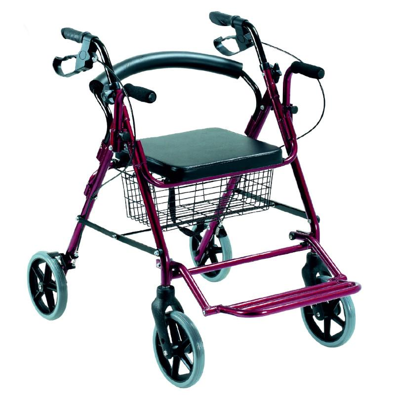 Aluminium Comfort 2-in-1 Rollator plus Wheelchair