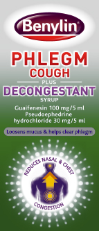 Benylin Phlegm Cough plus Decongestant 100ml