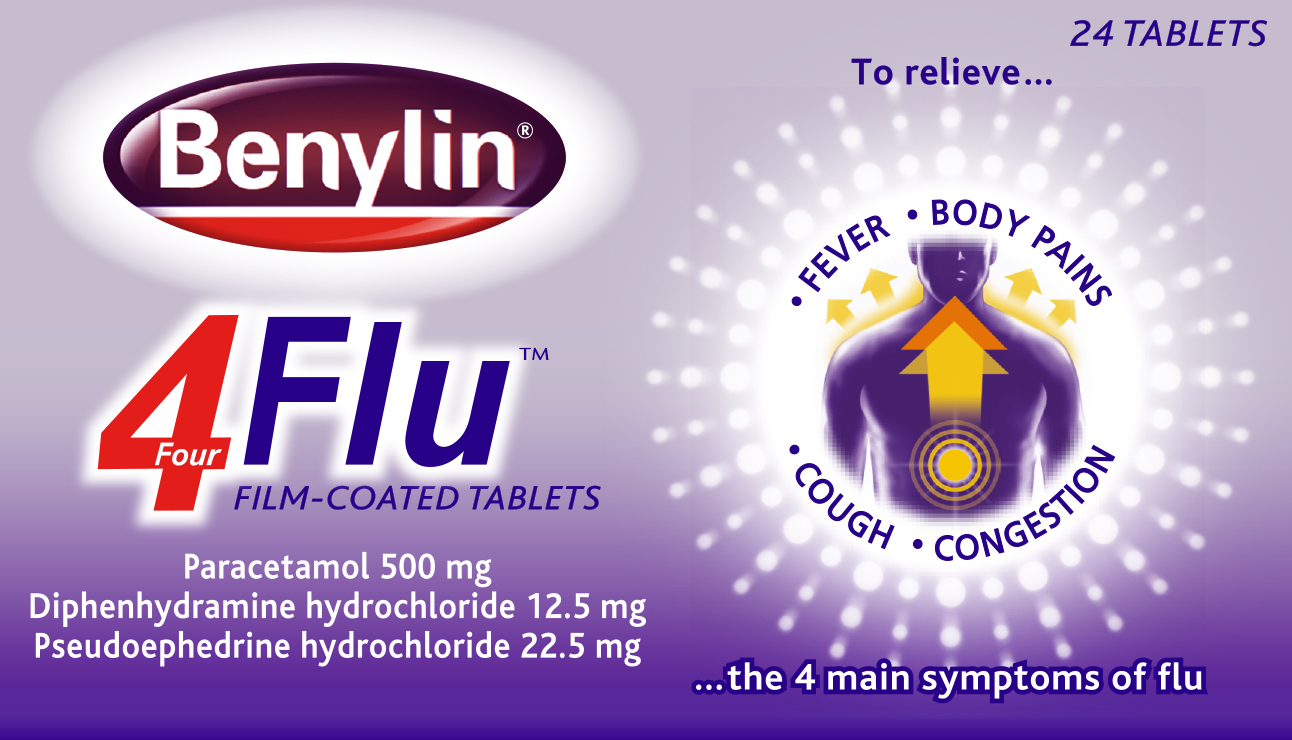 Benylin 4 flu Tablets 24