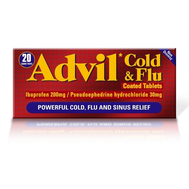 Advil Cold & Flu Tablets 20 Pack