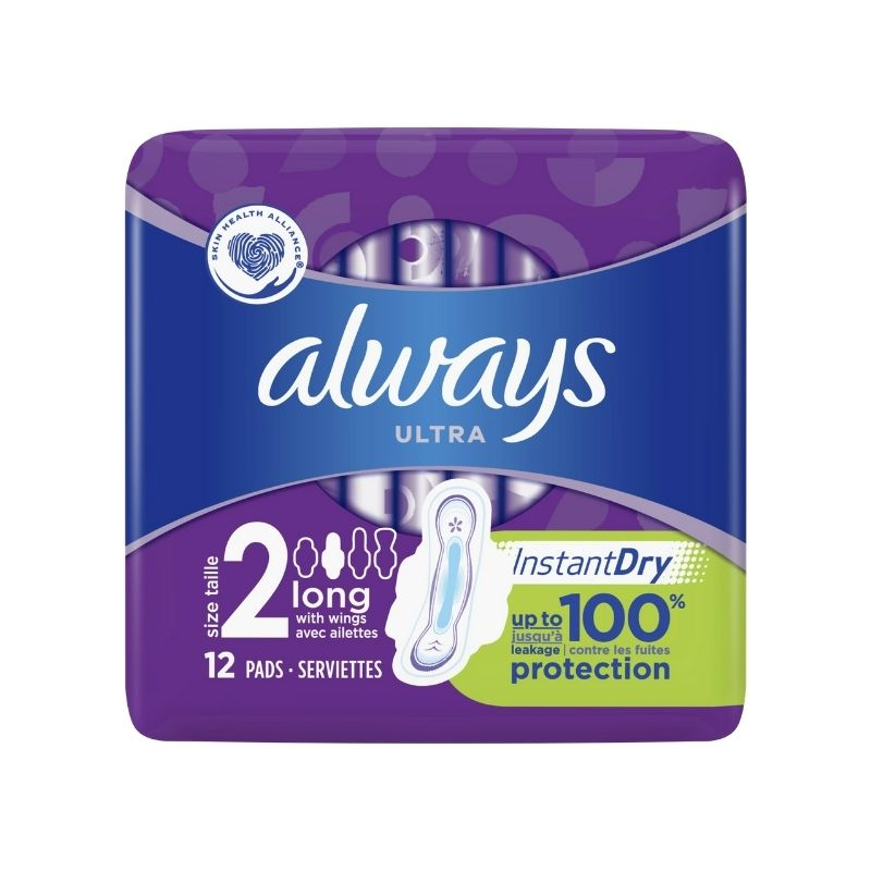 Always Ultra Long Plus Sanitary Pads 12 Pack