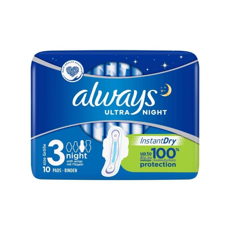 Always Ultra Night Sanitary Pads 12 Pack