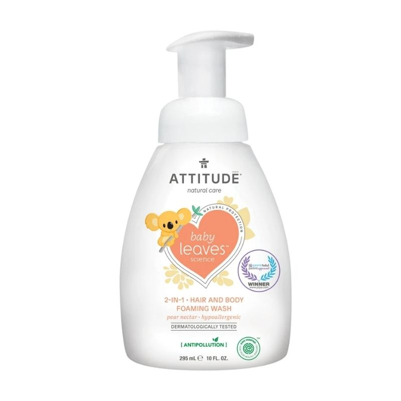 Attitude Baby Pear Nectar 2-in-1 Hair and Body Foaming Wash