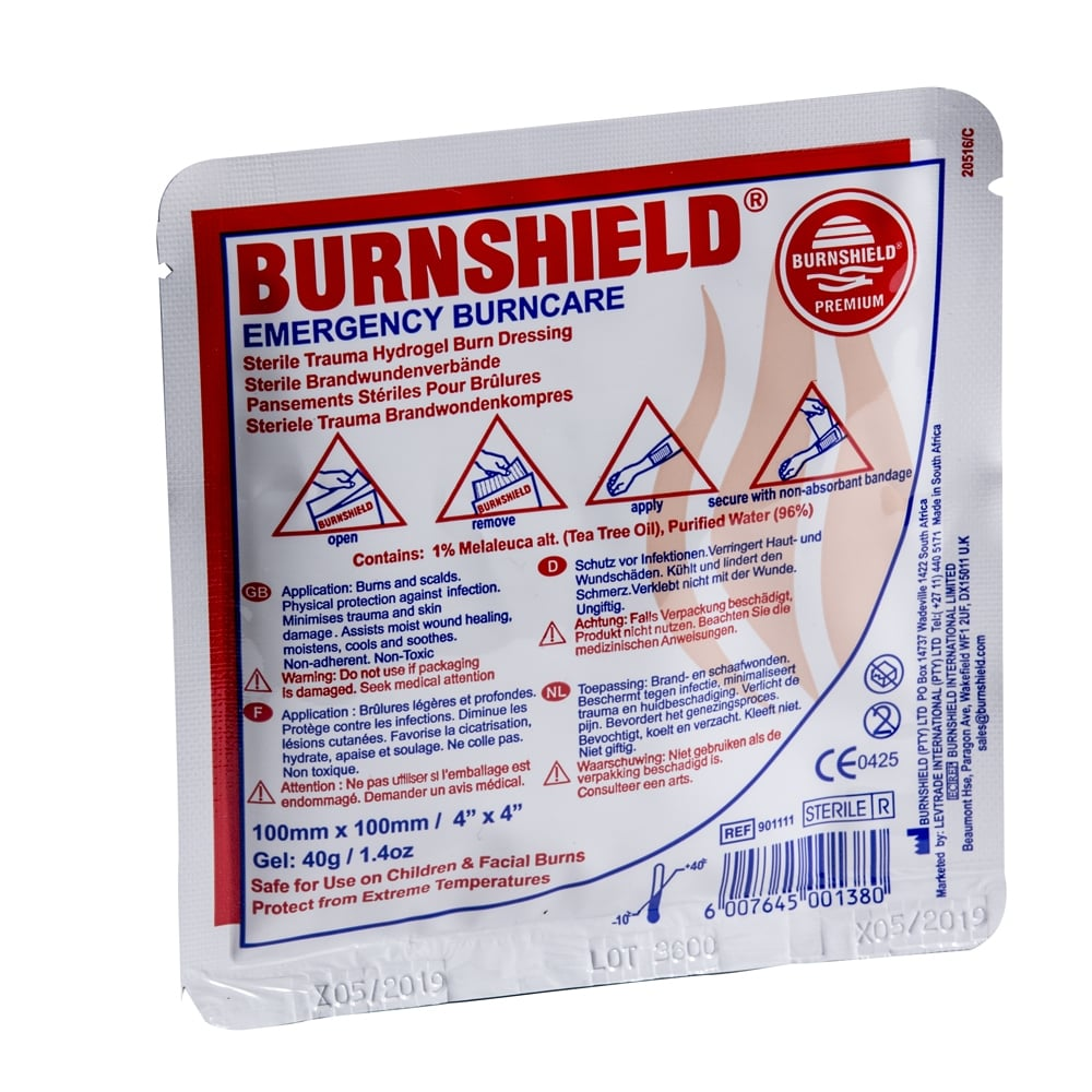 Burnshield Sterile Burn Dressing - 10cm x 10cm