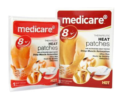 MEDICARE THERAPEUTIC HEAT PATCHES 3'S