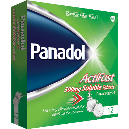 Panadol Actifast Soluble 12s