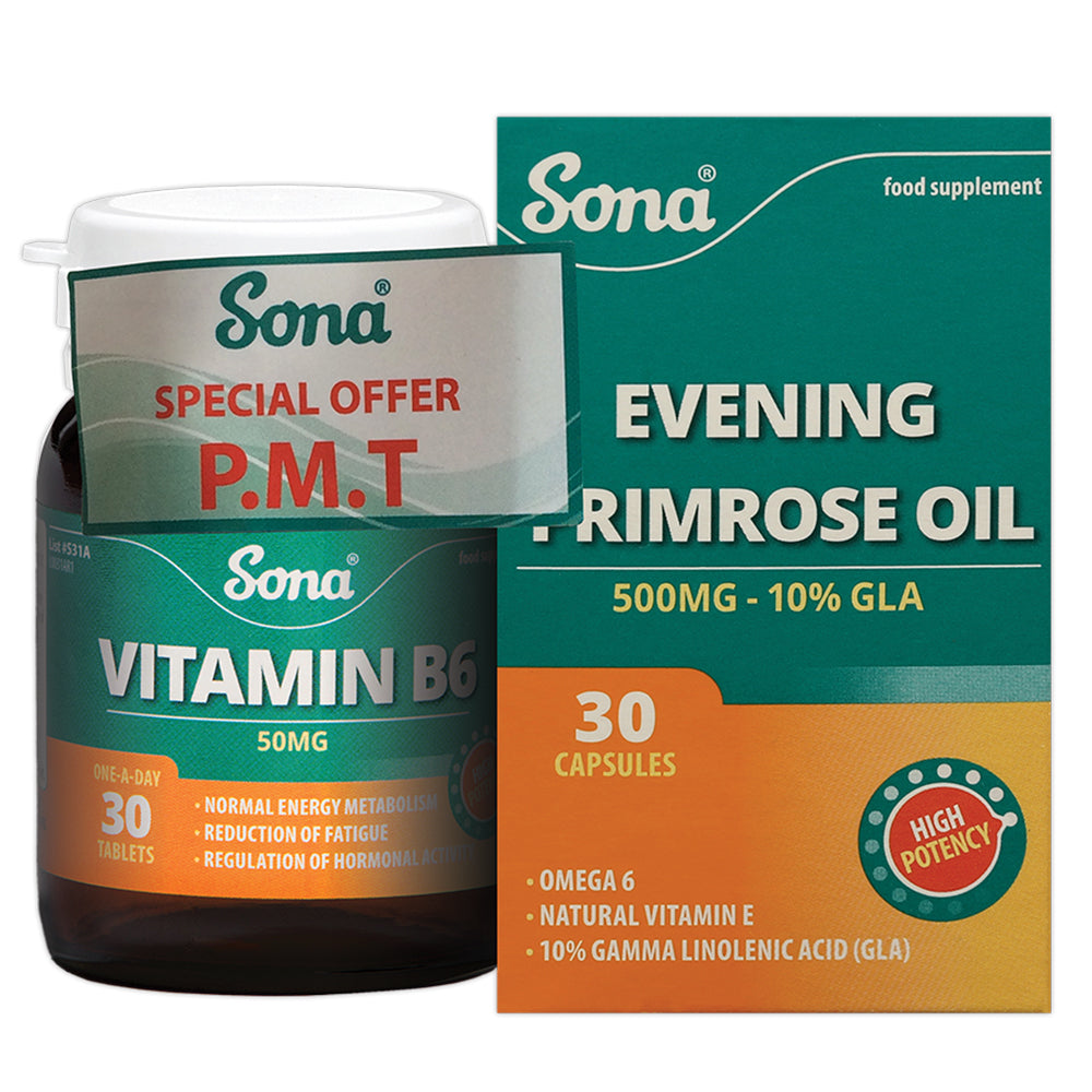 Sona PMT Pack (Evening Primrose Oil and Vitamin B6)