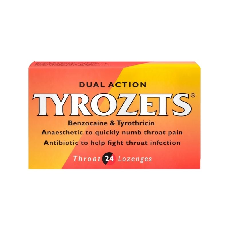 Tyrozets Dual Action Lozenges 24