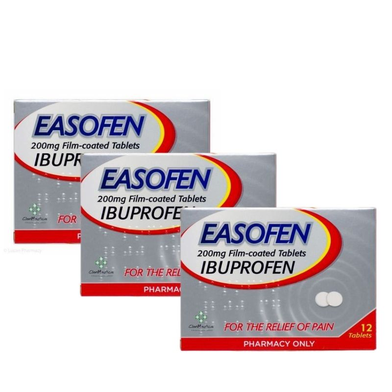 Easofen 200mg Ibuprofen Pain Relief Tablets