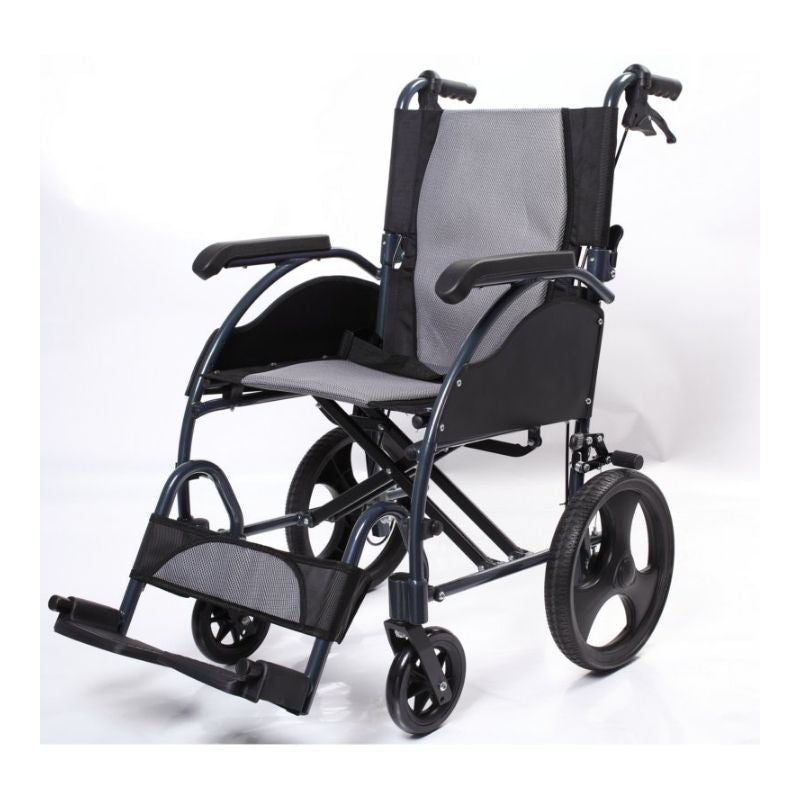 Aluminium Transfer Wheelchair with Brakes