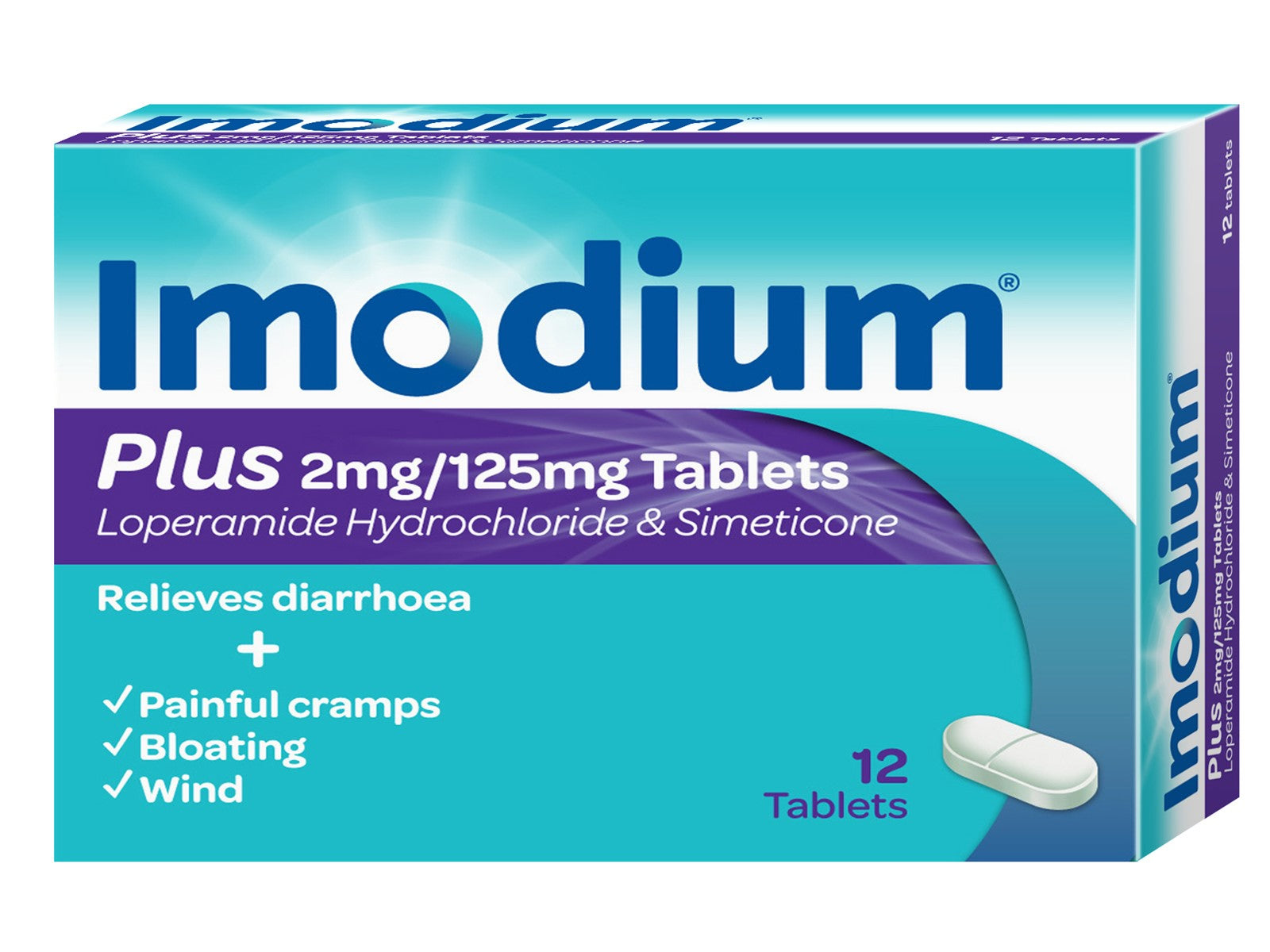 Imodium Plus Tablets 12