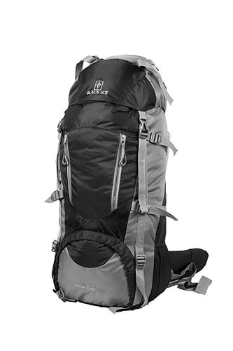 Backpack with Rain Cover 75ltr (Black Ice)