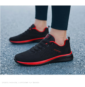 Mesh casual lace-up shoes
