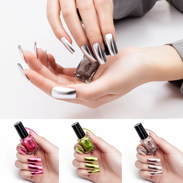 1/2Pcs Mirror Effect Metallic Nail Polish