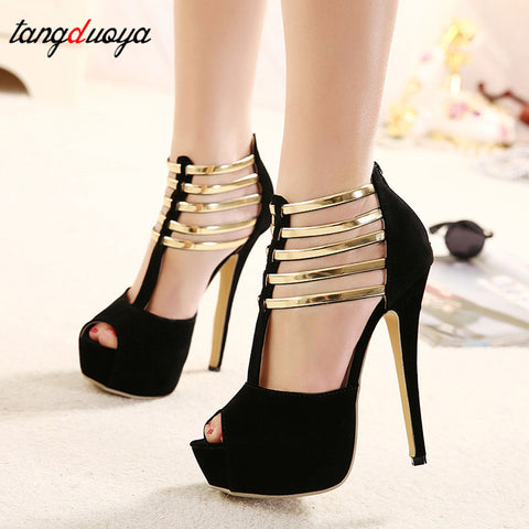 High Heels Peep Toe stilettos
