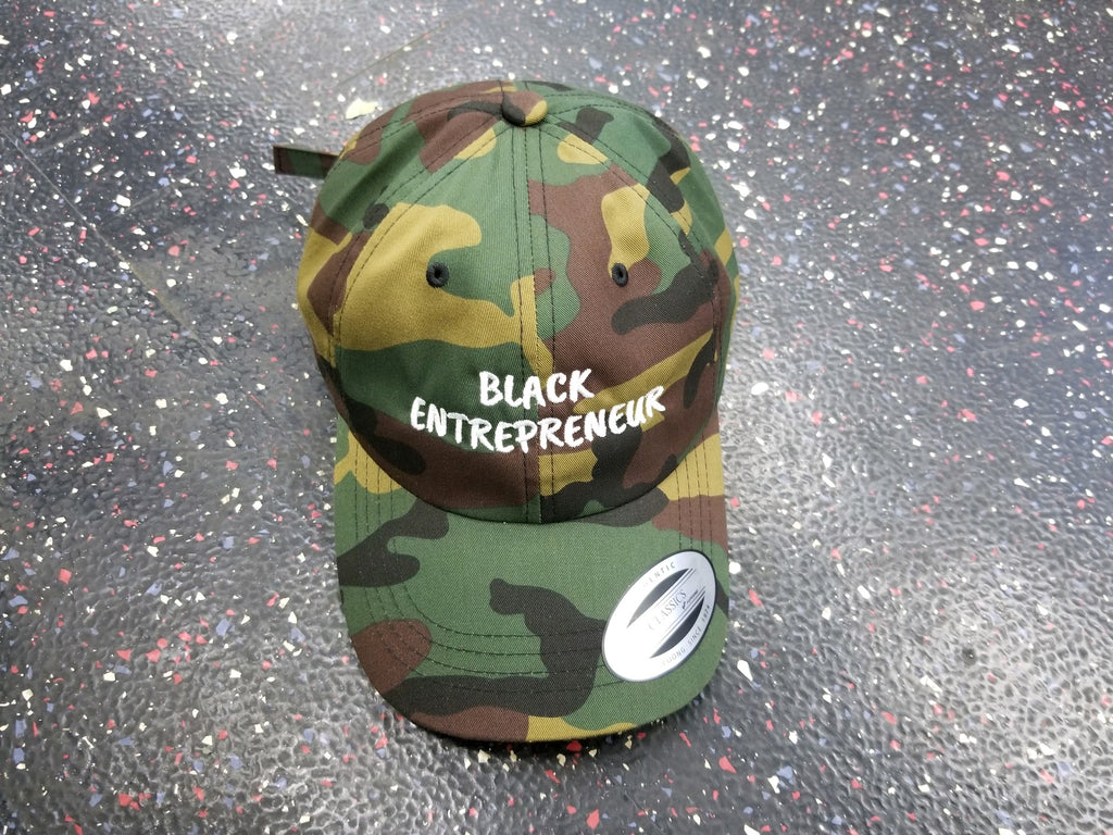 Black Entrepreneur Camo Dad hat - Black Entrepreneur Clothing