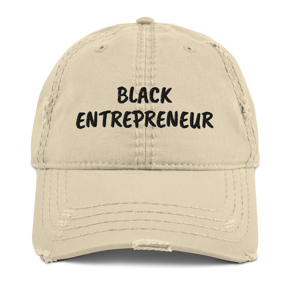 Black Entrepreneur Distressed Dad Hat