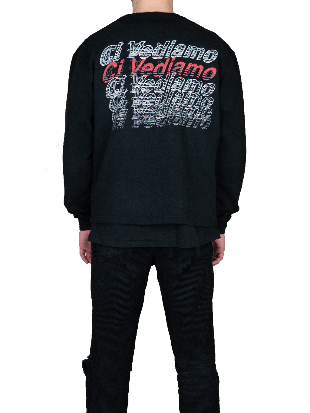 Printed Oversized Sweatshirt Black MGR Back