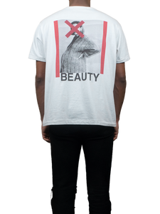 Beauty White T-Shirt Back MGR
