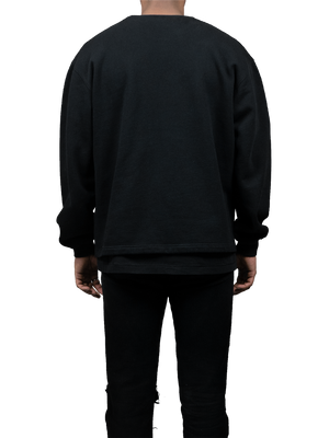 Oversized Black Logo Sweatshirt MGR Back