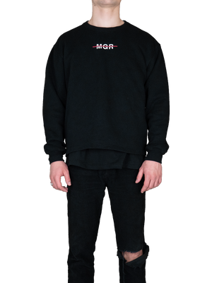 Printed Oversized Sweatshirt Black MGR Front