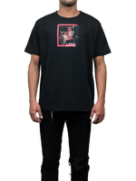 Black printed MGR T-Shirt Love Front