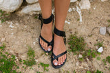 Casual Flat Hollow Toe Sandals
