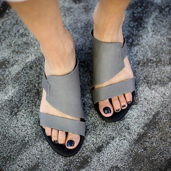Black Summer Sandals Slippers