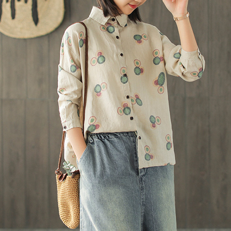 New Loose Embroidery Literary Cardigan Blouses