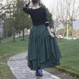 Fashion Cotton Plaid Summer Skirt