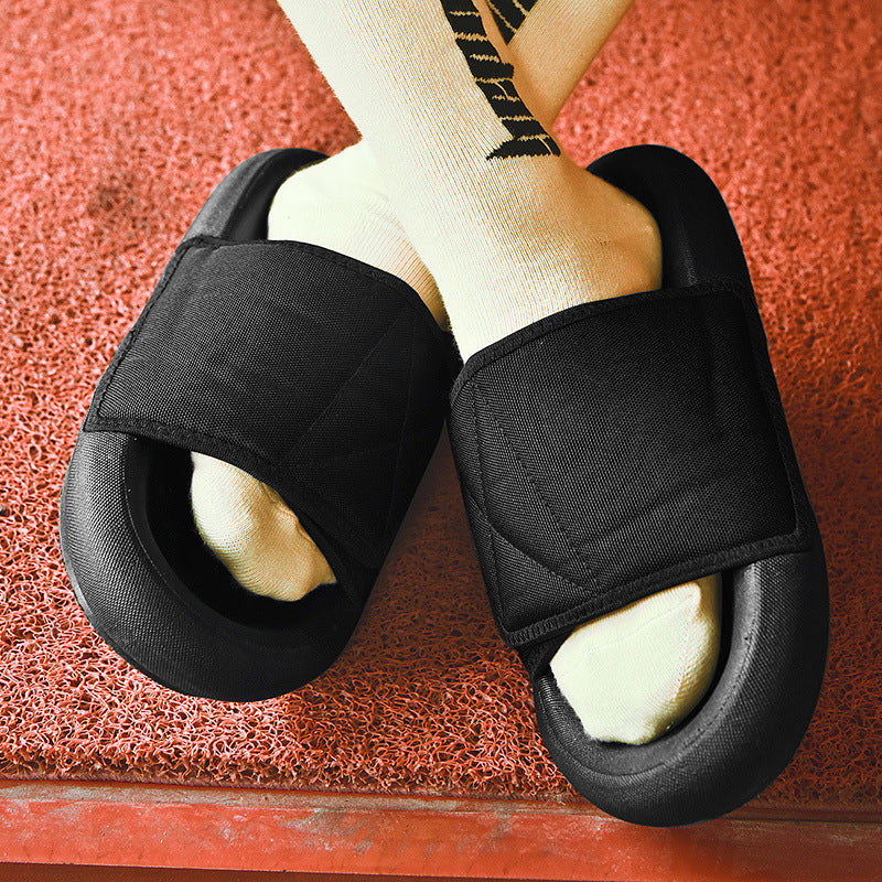 Ins New Couple Velcro Sandals Slippers Thick Beach Shoes