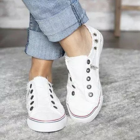 Women Canvas Casual Flats Shoes Vintage Sneaker Loafers