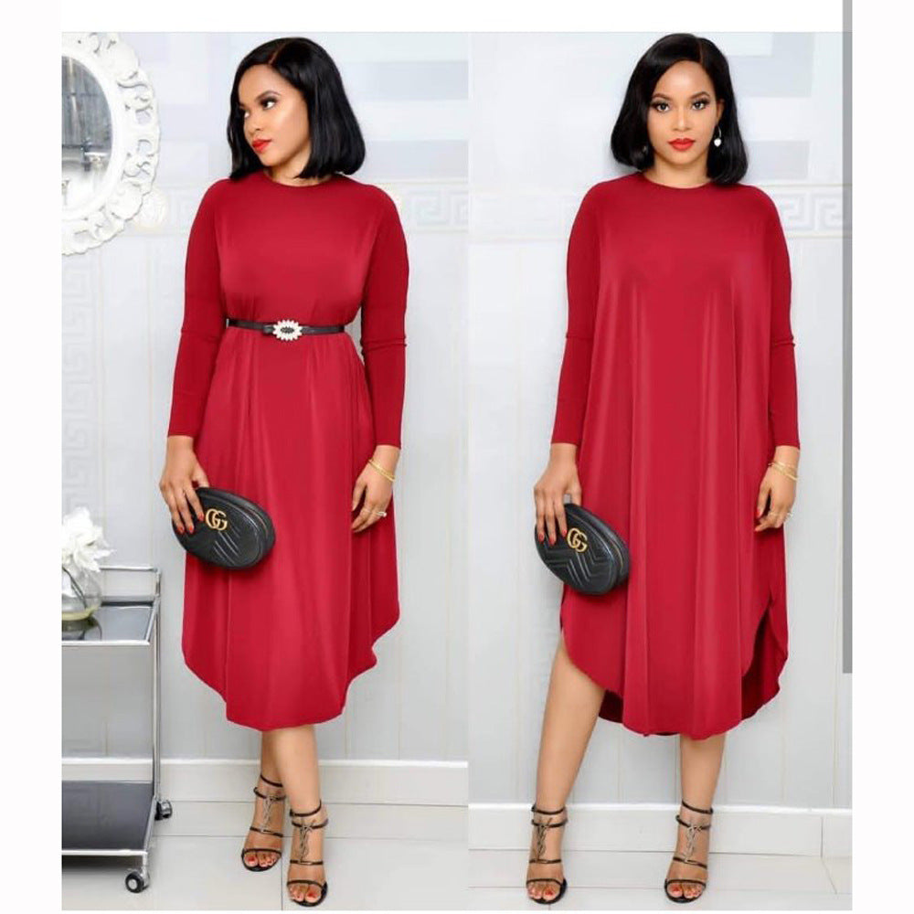 Plus Size African Midi Dress L-XL
