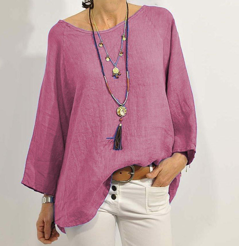 Loose Casual Long Sleeve Cotton Shirt